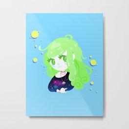 Space Cutie (green) Metal Print