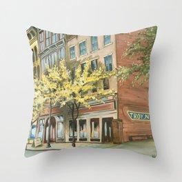 Troy, NY Throw Pillow