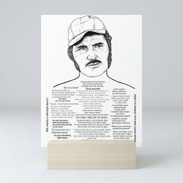 Jaws Captain Quint Ink'd Series Mini Art Print