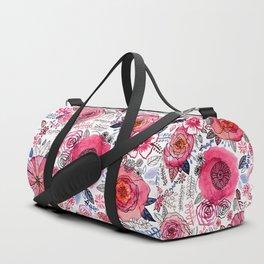 Pink Floral Mix Duffle Bag