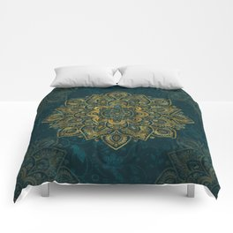 Mandala in Gold Eight Comforters