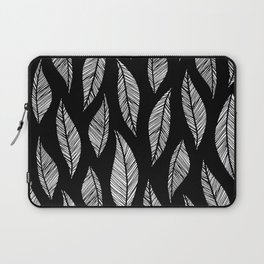 Black and White Tropical Motif Laptop Sleeve