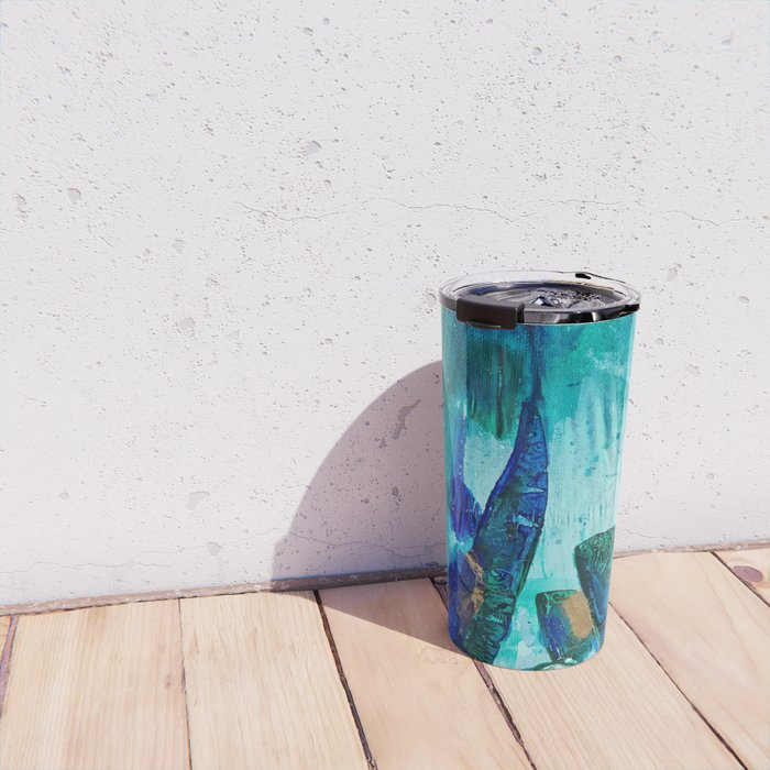 Bright Ocean Spaces, Tiny World Collection Travel Mug