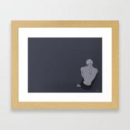 Sad prussian Framed Art Print