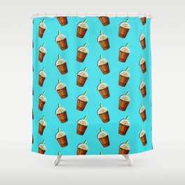 Iced Coffee To Go Pattern Shower Curtain