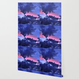 Clouds - Twilight Summer #1 #sunset #decor #art #society6 Wallpaper