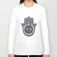 hamsa Long Sleeve T-shirts featuring Hamsa by Luna Portnoi
