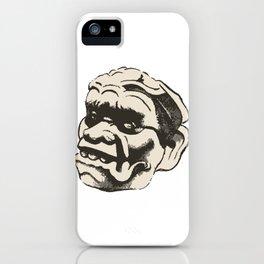 Mayan sculpture detail iPhone Case