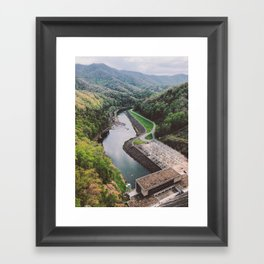 Fontana Dam • Appalachian Trail Framed Art Print