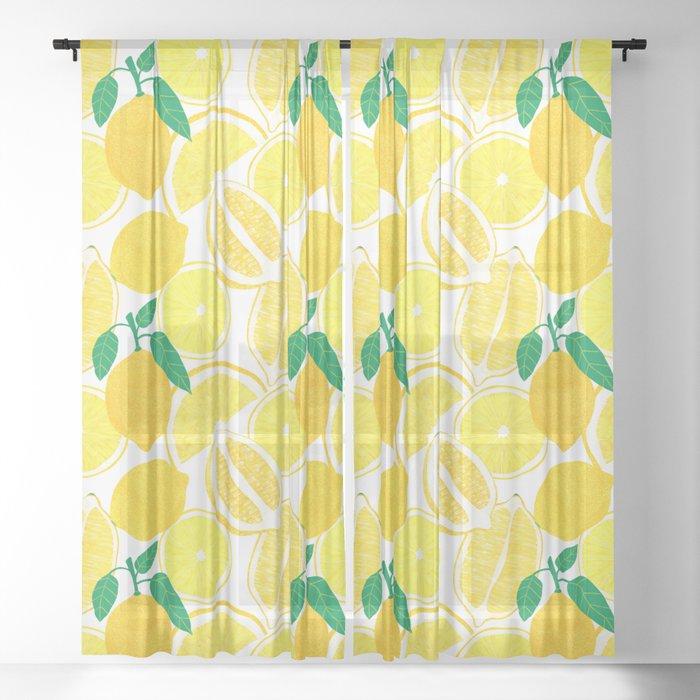 Lemon Harvest Sheer Curtain