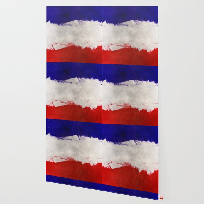 Grunge Painting France Flag Wallpaper