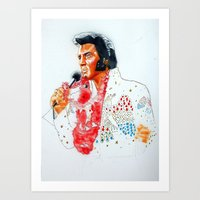 elvis presley Art Prints featuring Elvis presley by calibos