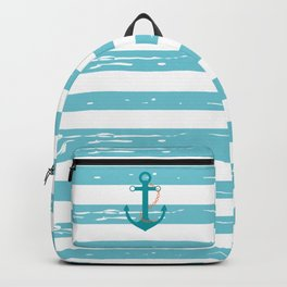 AFE Nautical Teal Ship Anchor Backpack