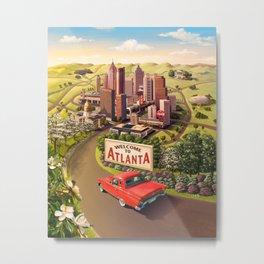 Welcome to Atlanta Metal Print