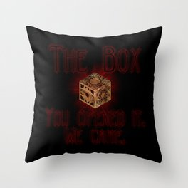 Hellraiser The Box You Opened It Throw Pillow