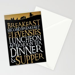 Fantasy Meal Schedule Stationery Cards