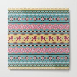 Poodle -Fun Colorful Pattern in pastels Metal Print