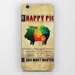 Happy pig iPhone Skin