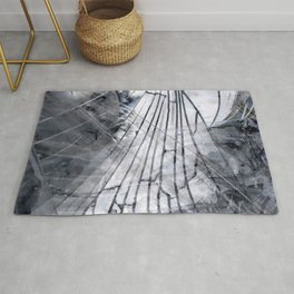 Abstract Mirrored Ghost Rug