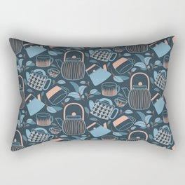 Blue and Pink Teapots and Mugs Rectangular Pillow