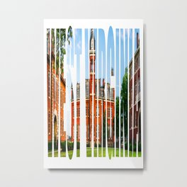 West Virginia Campus Lettering Print Metal Print