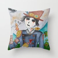 steampunk Throw Pillows featuring Steampunk by Lynne Gryphon