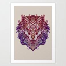 Wolf Ornament Art Print