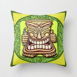 Happy Tiki #2 Throw Pillow
