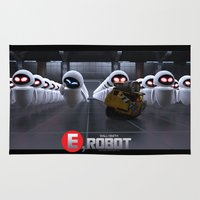 wall e Area & Throw Rugs featuring Wall-Smith E-Robot.... by Emiliano Morciano (Ateyo)