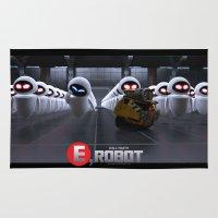 wall e Area & Throw Rugs featuring Wall-Smith E-Robot.... by Emiliano Morciano (Ateyo)