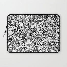 Somewhere Together black and white Laptop Sleeve
