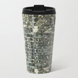 Gray Brick Wall Metal Travel Mug