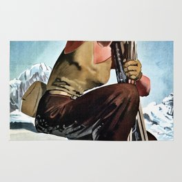 Aosta Valley winter sports Rug