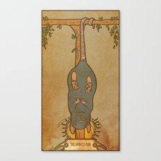 Muroidea Rat Tarot- The Hanged Man Canvas Print