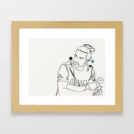Sexting Framed Art Print