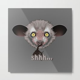 Aye-Aye Lemur Metal Print