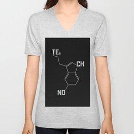 Techno serotonin molecule Unisex V-Neck