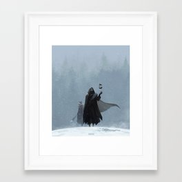 Wolves roam these lands Framed Art Print