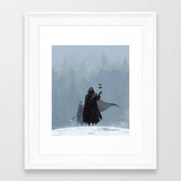 Wolves roam these lands Framed Art Print