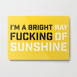 RAY OF SUNSHINE Metal Print