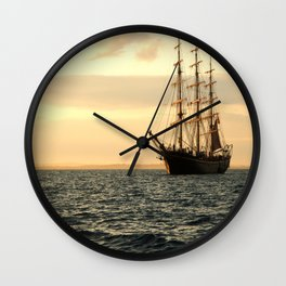 The Georg Stage while sunset  Wall Clock