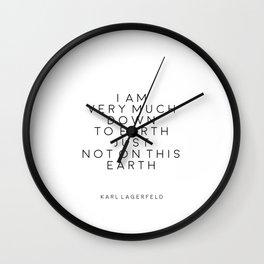 Fashion Wall Art Fashion Decor Karl Lagerfeld Quotes Karl Lagerfeld Print Printable Quotes Fashion Wall Clock