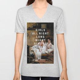 girls all night long Unisex V-Neck