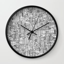 The Long Town  Wall Clock