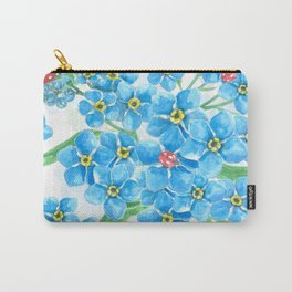 Forget me not seamless floral pattern Carry-All Pouch