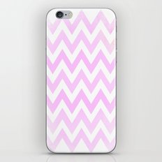 Pale Pink textured Chevron Pattern iPhone & iPod Skin