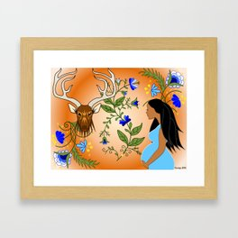 Deer Clan Framed Art Print