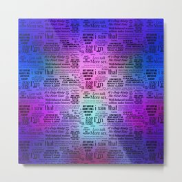Adult Quotes Montage Metal Print