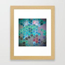 Onion cell hexagons Framed Art Print