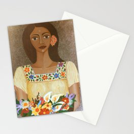 More than flowers she sells illusions Stationery Cards